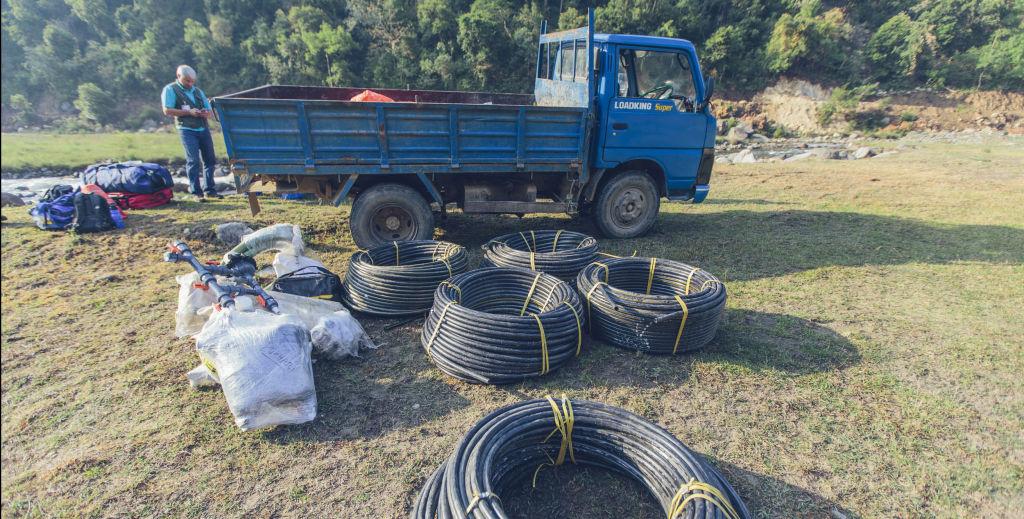 Pipe ready for Pokhari village | Nepal Earthquake