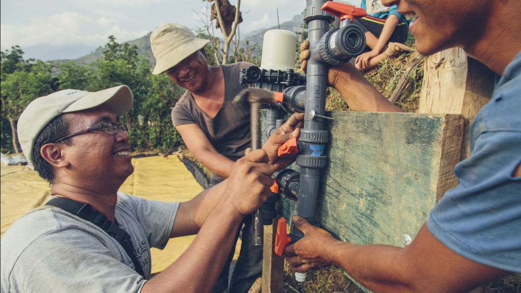 Tosa installs a chlorinator | Nepal Earthquake