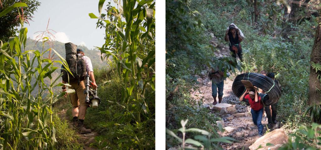 Climbing up to Keura   Nepal Earthquake