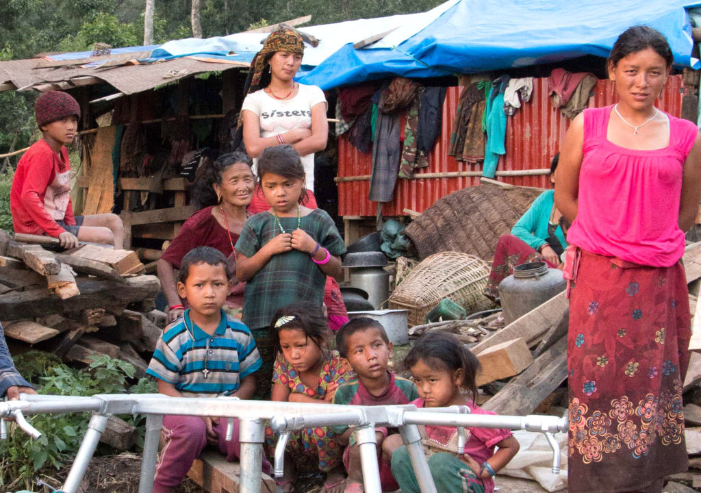 Keura community with tap stands   Nepal Earthquake