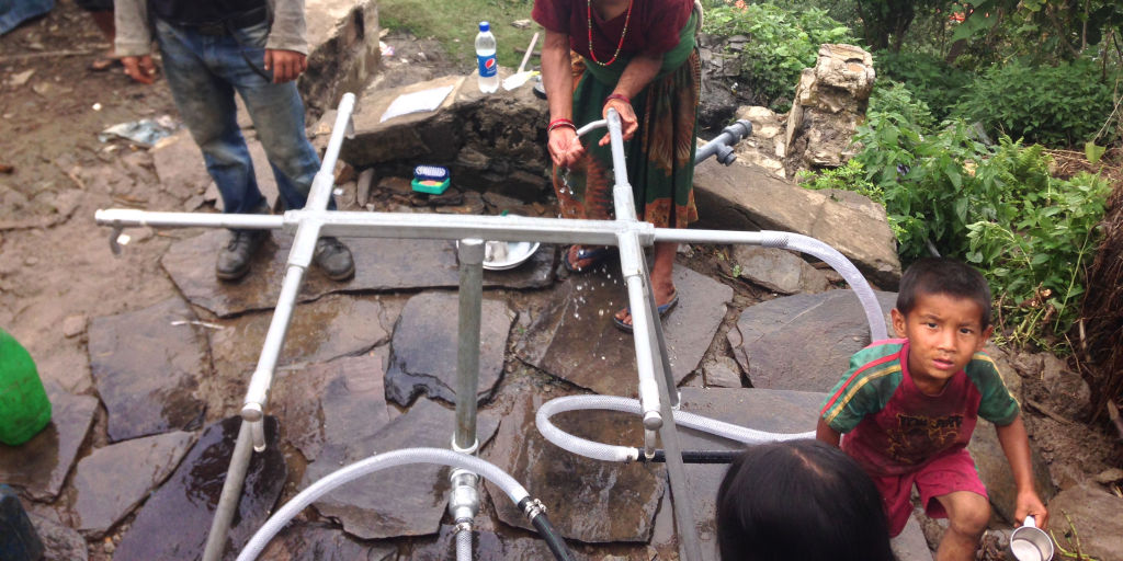 Tapstands in Keura   Nepal Earthquake