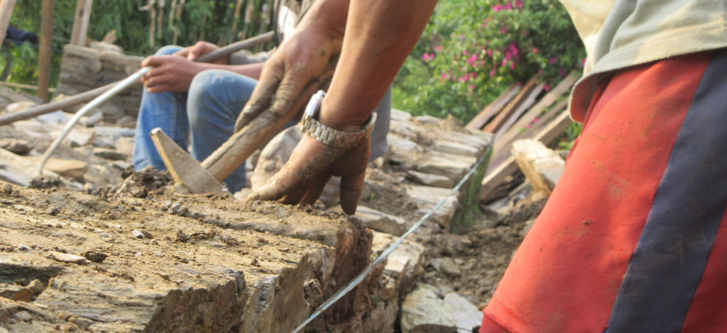 building Keura back   Nepal Earthquake