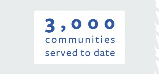 3000 Communities Served
