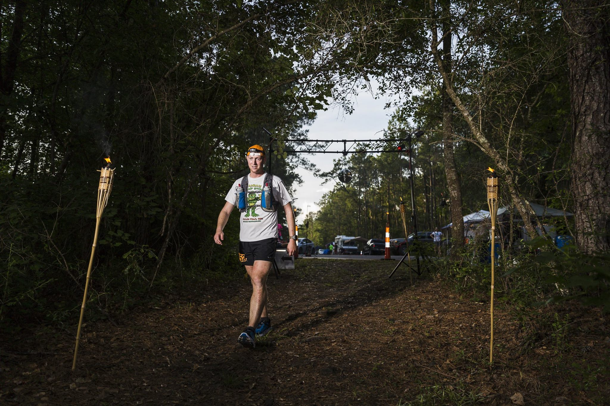 Running for Water: Nathan Dewey heads back into the woods around the 100-mile