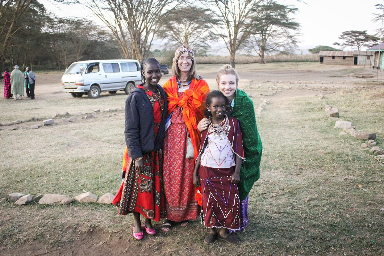 Diane and Kristine in Kenya