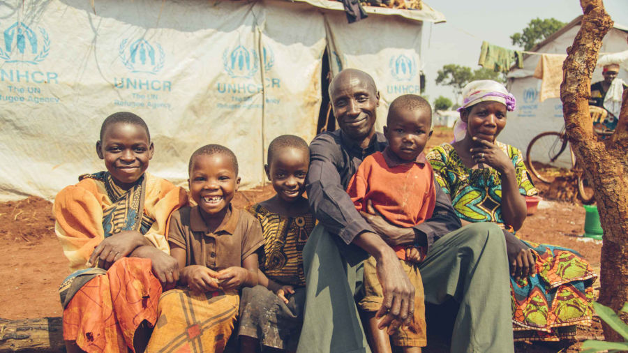Burundian refugees at Nyarugusu Refugee Camp