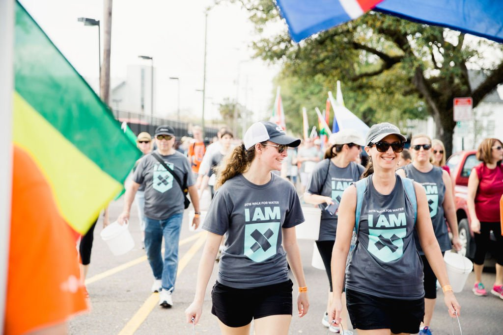 People go farther by walking for safe water at the Charleston Walk for Water in support of Water Mission.