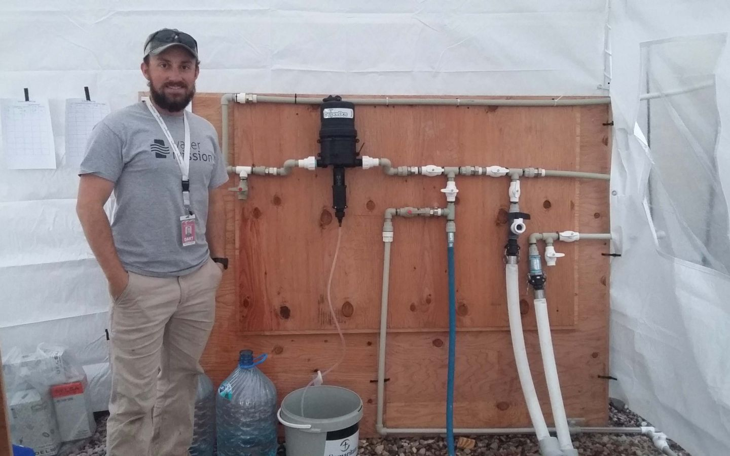 Tim works to implement a safe water solution Iraq.