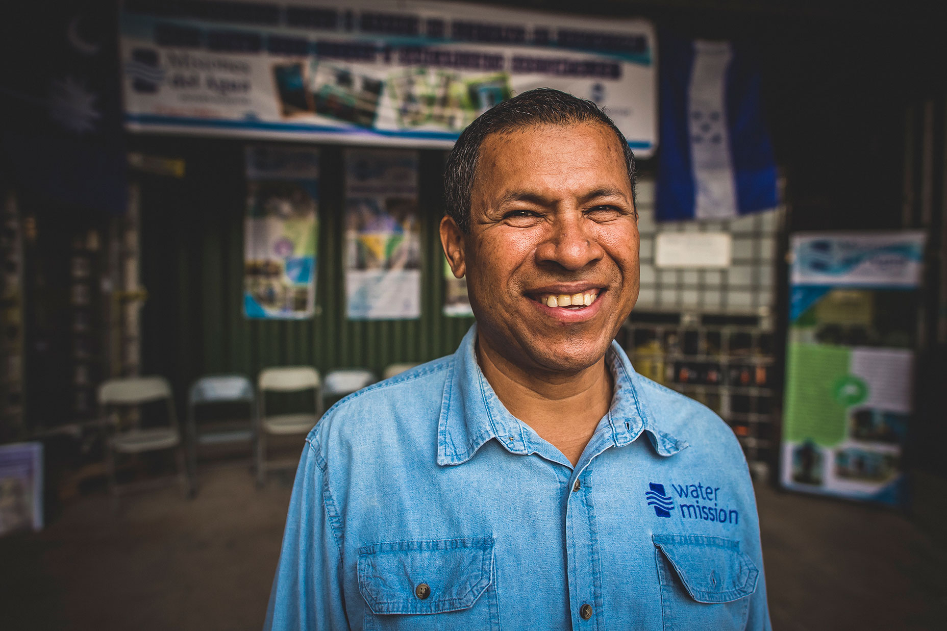Hector Chacon, Water Mission Honduras Country Director, smiles for the camera.