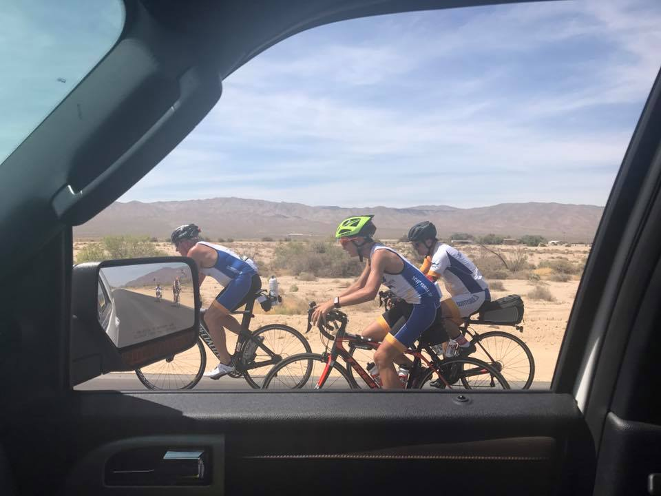 The Scotty's Ride team rides through the desert.
