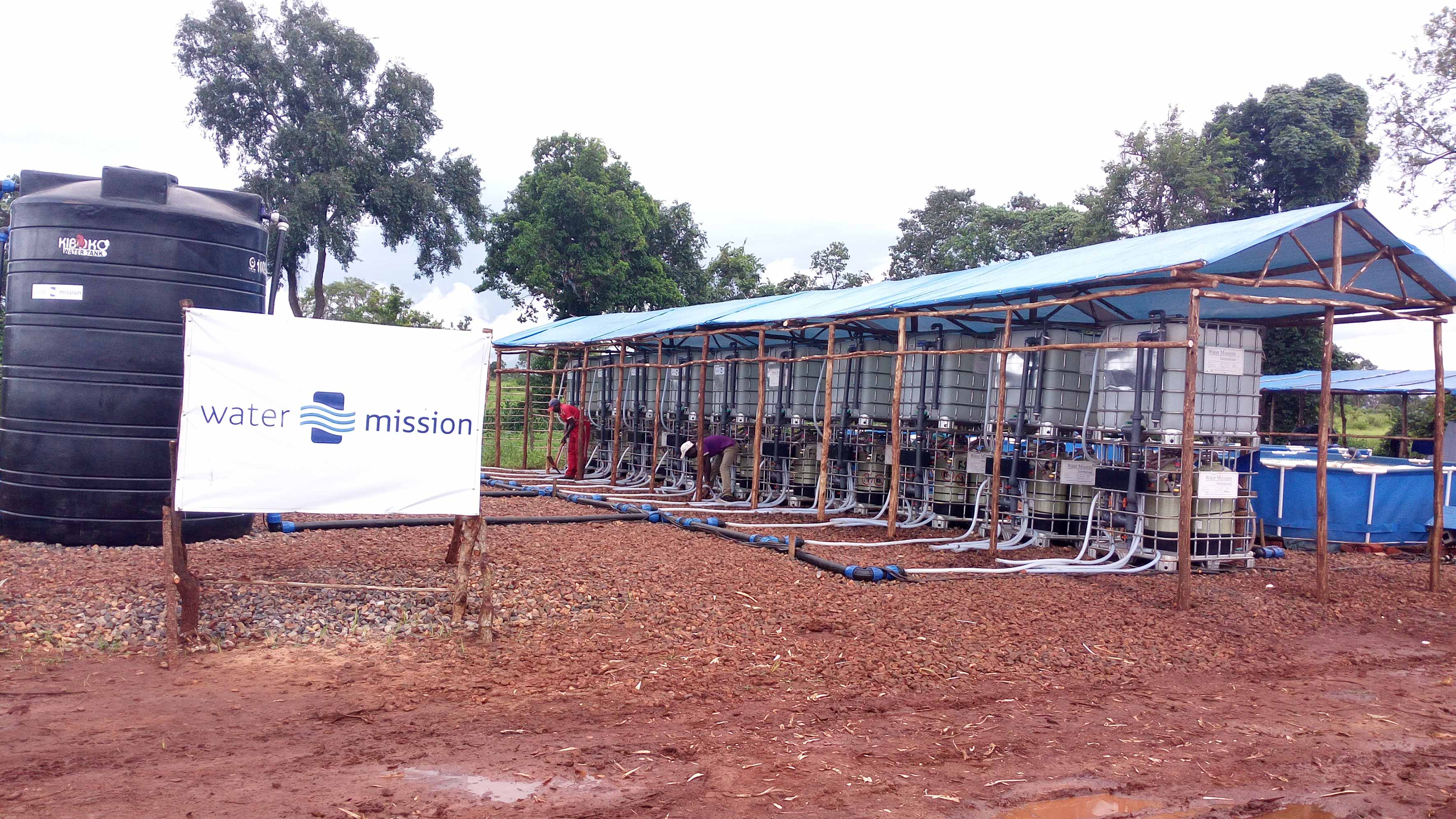 The largest safe water treatment system located in Nyarugusu, Tanzania.