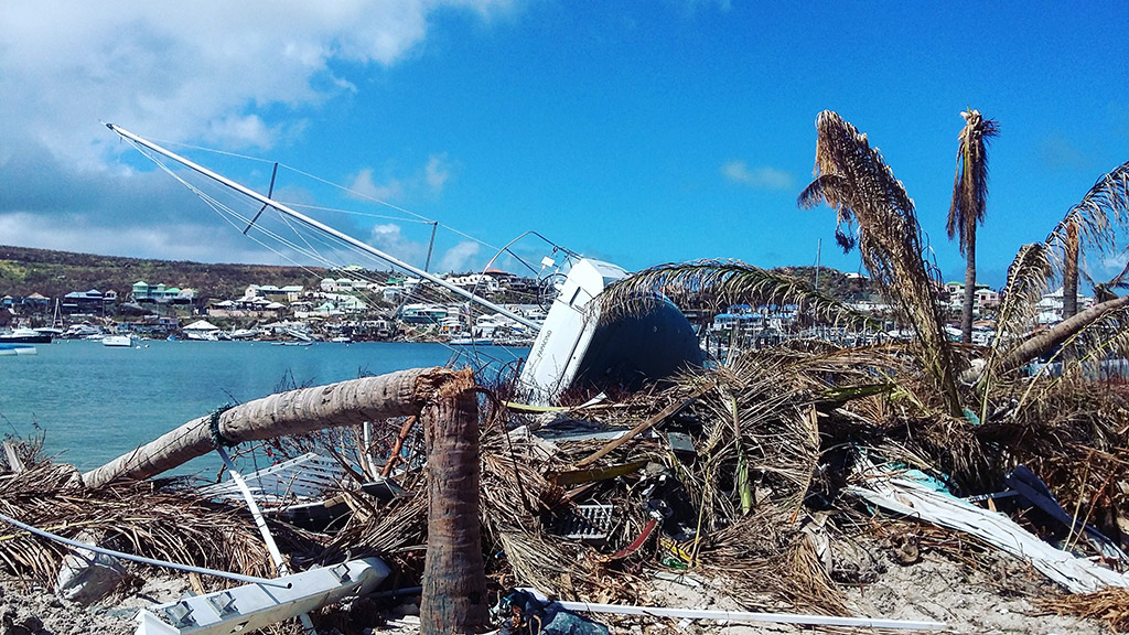 The damage done by Hurricane Irma was extensive.