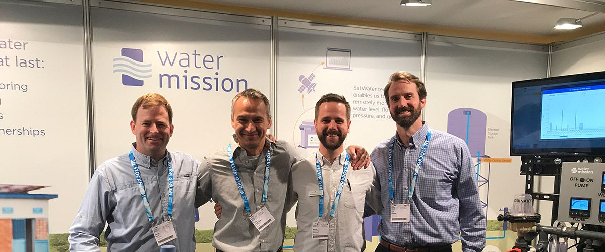 The Water Mission team setting up at SIWI World Water Week