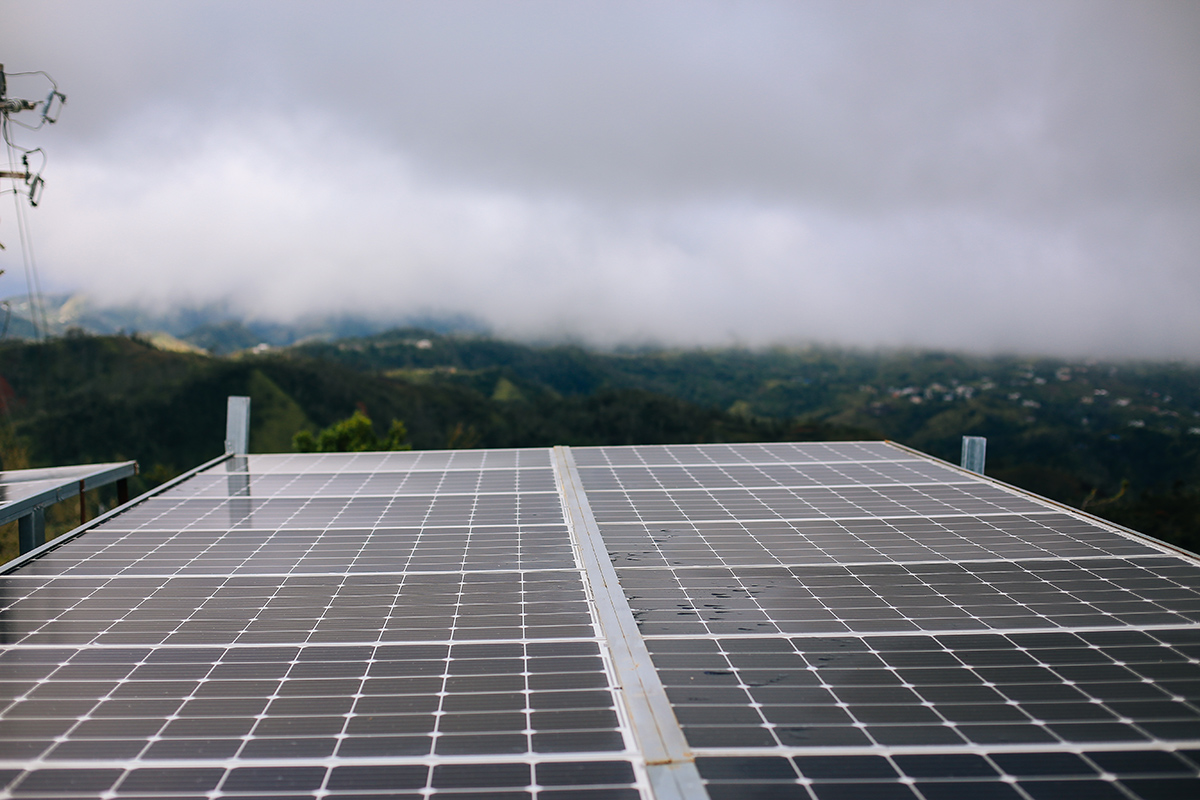 Solar panels to power safe water systems.