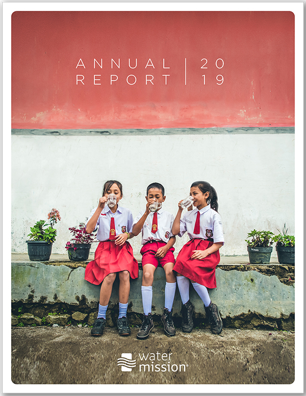 Water Mission 2019 Annual Report Cover