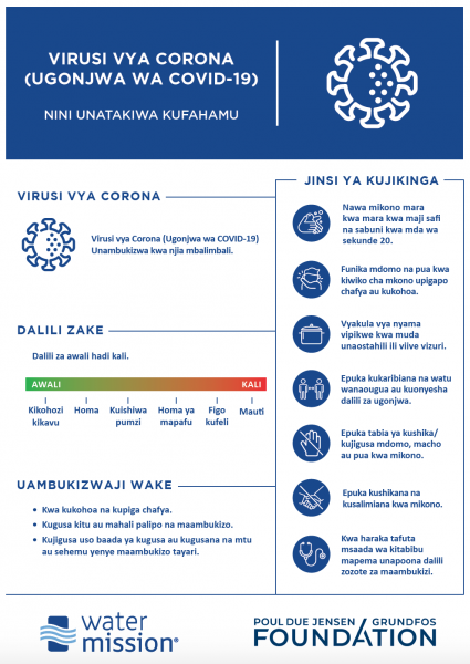 COVID Information Flyer Translated in Swahili